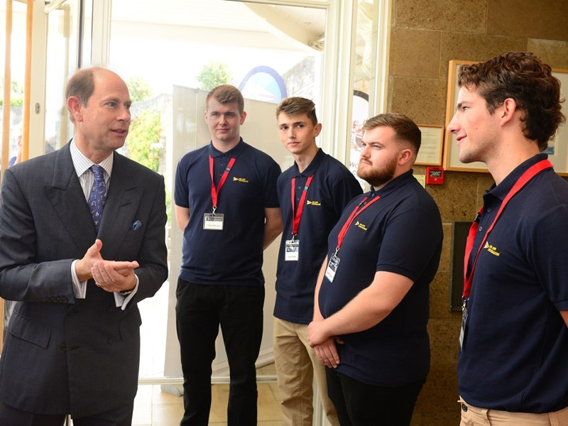 Prince Edward visits Marine Careers Fair hosted by the Royal Yacht Squadron Isle of Wight Foundation