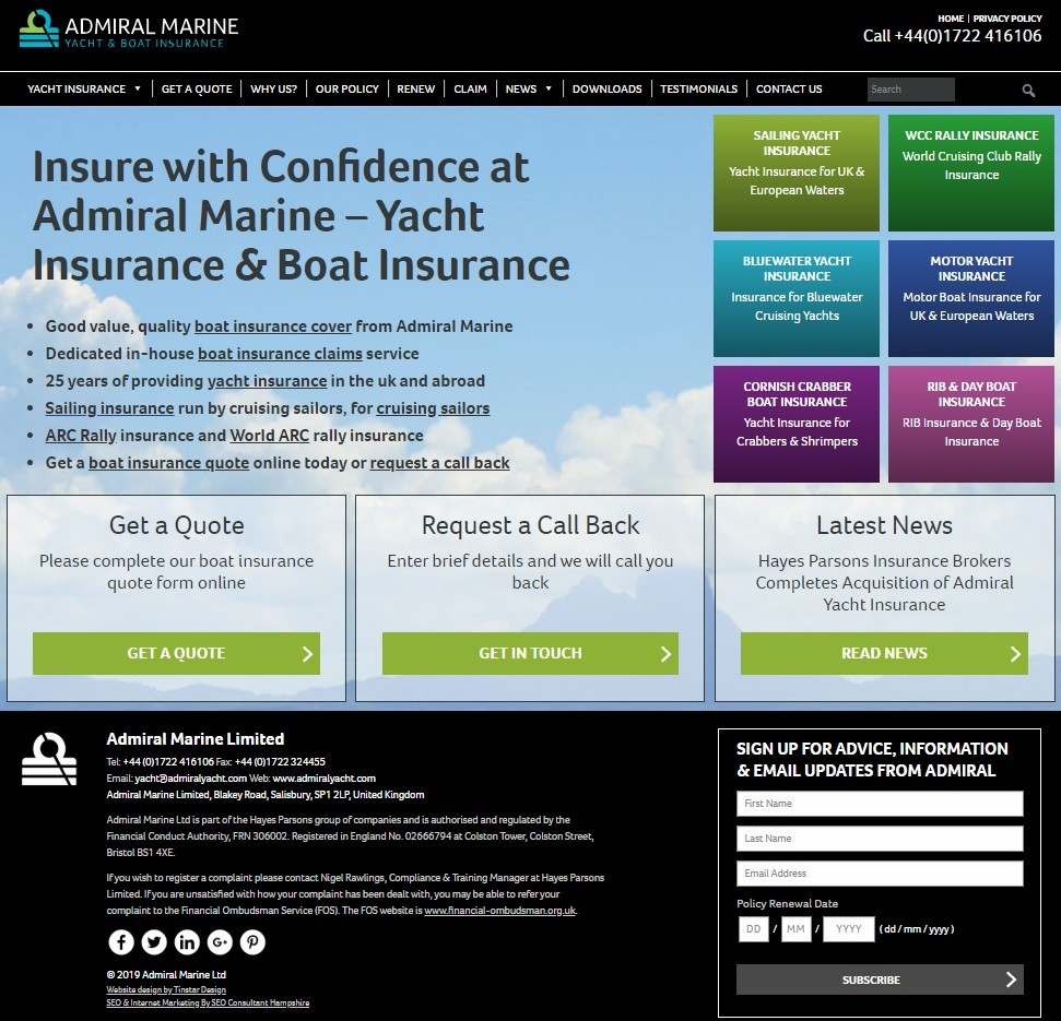 Admiral Marine - Yacht & Boat Insurance - Unveils Company Re-Branding